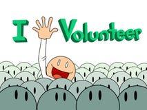 Raise hand volunteer. Man raise helpfull  hand for volunteer Stock Photo