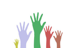 Raise Hands volunteering or voting Royalty Free Stock Photo