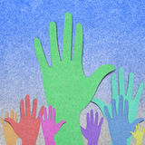 Raise made from old paper Royalty Free Stock Image