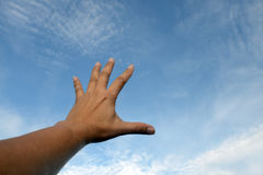 Raise one's hand Royalty Free Stock Images