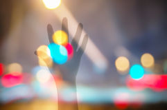 Raise ones hand Bokeh Background Royalty Free Stock Images