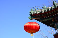 Raise the red lantern Royalty Free Stock Image