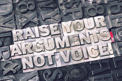 Raise your arguments met Royalty Free Stock Images