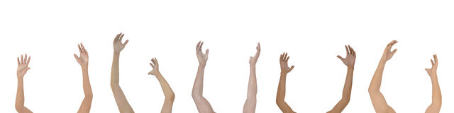 Raise your Hands - Isolated Stock Photo