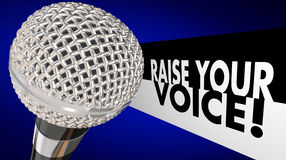 Raise Your Voice Microphone Speak Up Sing Talk Stock Photo