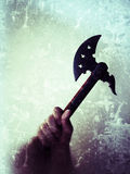 Raised battle axe Royalty Free Stock Images