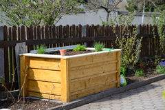 Raised bed freshly planted Royalty Free Stock Image