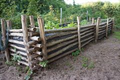 Raised Bed with plants Royalty Free Stock Photos