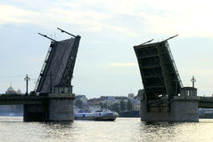 Raised Bridge Stock Image