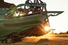 Raised cutting unit of a combine harvester Royalty Free Stock Photography
