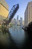 Raised Drawbridge, Chicago, Illinois Royalty Free Stock Photo
