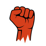 Raised Fist Icon. Hand Protest Strike Fight. Vector Stock Images