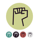 Raised Fist logo. Vector Illustration on a white background. Fist logo. Vector Illustration on a white background Royalty Free Stock Image