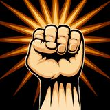 Raised Fist Symbol Stock Image