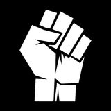 Raised fist vector icon Royalty Free Stock Photography