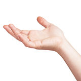 Raised hand expressing, on white Stock Images