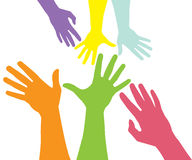 Raised hands. Nice color illustration raised hand Royalty Free Stock Photo