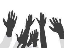 Raised hands Stock Photography