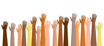 Raised hands Royalty Free Stock Photography