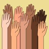 Raised Hands Illustrations for Volunteering Concept. A vector illustration of Raised Hands for Volunteering Concept Royalty Free Stock Image