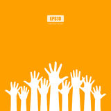 Raised hands vector poster Royalty Free Stock Image
