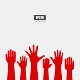 Raised hands Stock Image