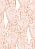 Raised hands seamless pattern Stock Image
