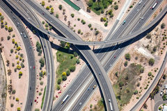 Raised interstate interchange Royalty Free Stock Photo