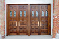 Raised panel double doors Stock Images