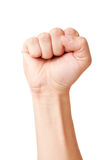 Raised up clenched fist royalty free stock images