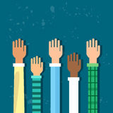 Raised Up Hands Diversity Concept Stock Photography