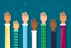 Raised Up Hands Diversity Concept Royalty Free Stock Photo