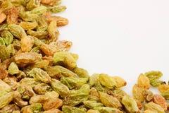 Raisin. Heap of raisin on a white background Stock Photo