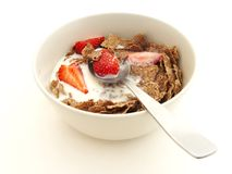 Raisin bran cereal Royalty Free Stock Image