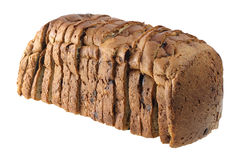 Raisin Bread. On White Background Royalty Free Stock Images