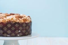 Raisin bread cake with almond. Italian dessert style Stock Photo