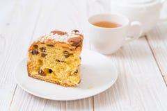 Raisin bread cake with almond. Italian dessert style Stock Photos