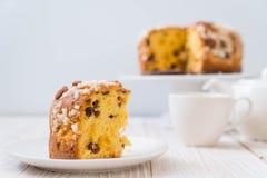 Raisin bread cake with almond. Italian dessert style Royalty Free Stock Images