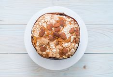 Raisin bread cake with almond. Italian dessert style Stock Image