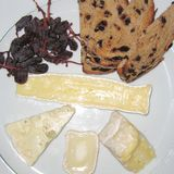 Raisin bread and cheese. Served as a starter Royalty Free Stock Image