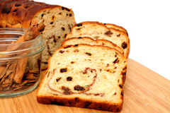 Raisin Bread And Cinnamon Stock Image