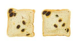 Raisin bread isolated on white background Royalty Free Stock Photo