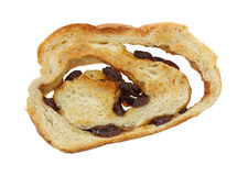 Raisin Bread Sice at Angle Stock Photo
