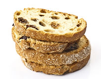 Raisin bread toast Royalty Free Stock Images