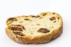 Raisin bread toast. On white background Stock Photography