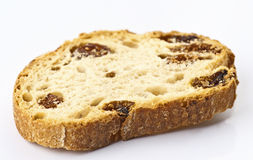 Raisin bread toast. On white background Stock Images
