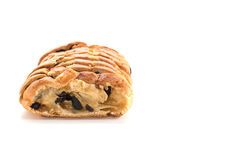 Raisin bread. On white background Stock Photography
