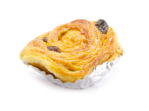 Raisin brioche sweet danish pastries Royalty Free Stock Images