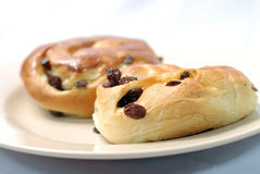 Raisin buns Stock Photo