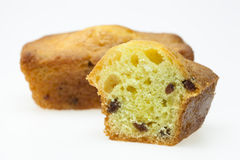 Raisin cake. Keck with raisins isolated on white background Royalty Free Stock Photos